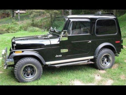Black 1978 Jeep CJ7 4x4