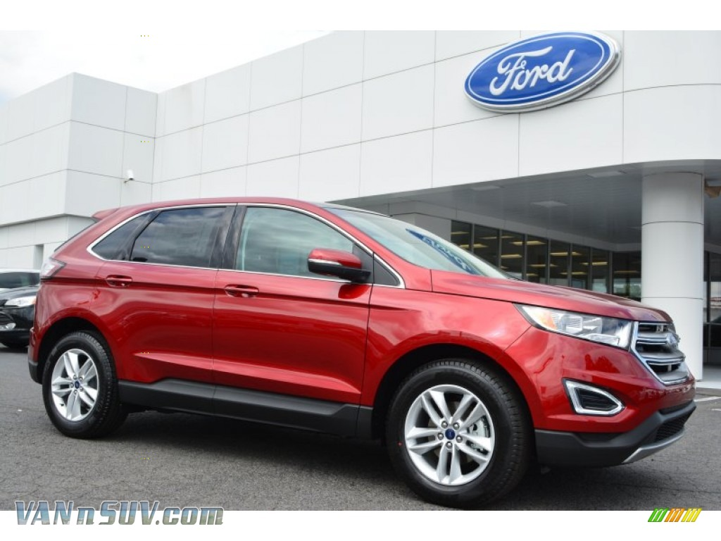 2015 ford edge sel in ruby red metallic b02237 vans and suvs for sale in the us. Black Bedroom Furniture Sets. Home Design Ideas