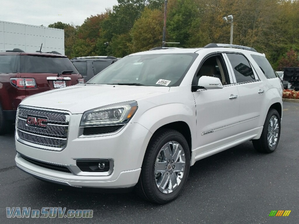 2016 gmc acadia denali awd in white frost tricoat 168043 vans and suvs for. Black Bedroom Furniture Sets. Home Design Ideas