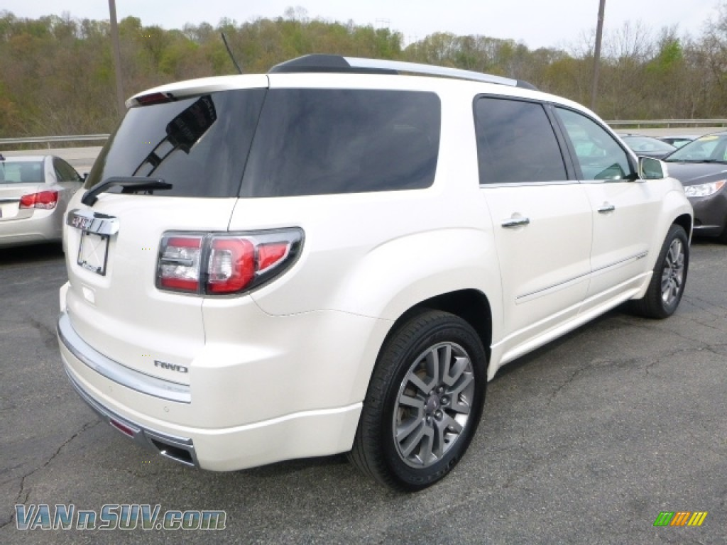 2013 Acadia Denali AWD - White Diamond Tricoat / Cocoa Dune photo #6
