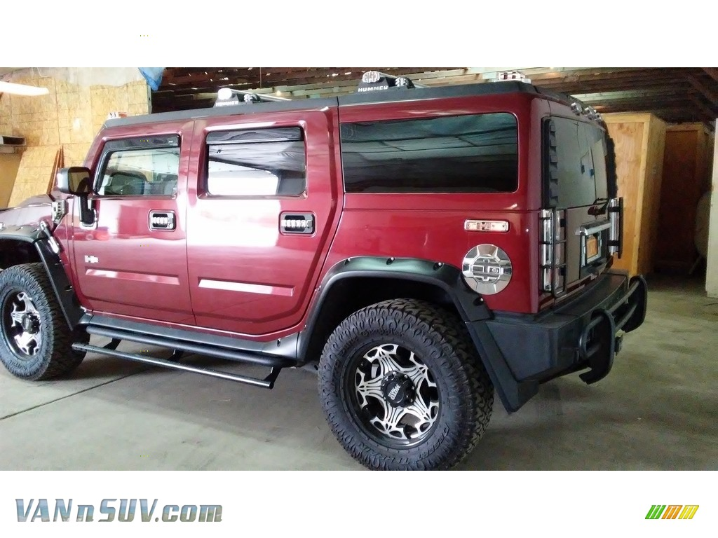 2004 H2 SUV - Red Metallic / Wheat photo #1