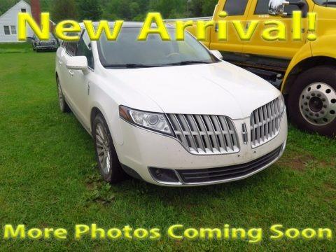White Platinum Metallic Tri-Coat 2012 Lincoln MKT EcoBoost AWD