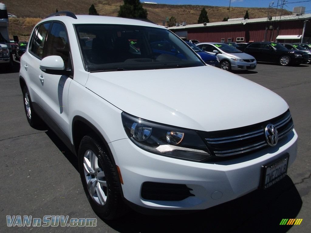 Pure White / Charcoal Volkswagen Tiguan S