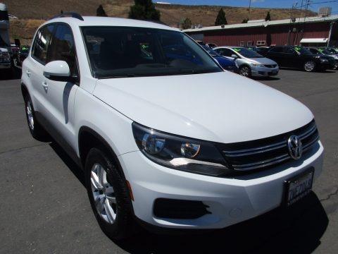 Pure White 2017 Volkswagen Tiguan S