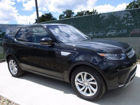 Santorini Black 2017 Land Rover Discovery HSE