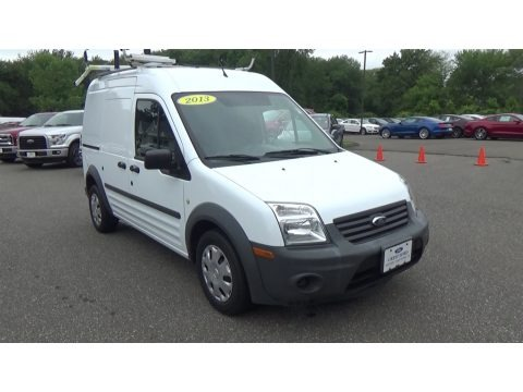 Frozen White 2013 Ford Transit Connect XL Van