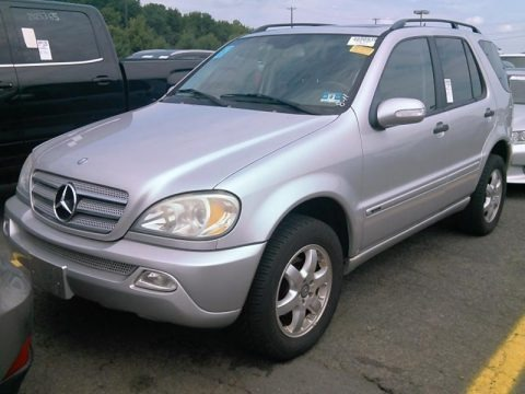 Brilliant Silver Metallic 2003 Mercedes-Benz ML 350 4Matic