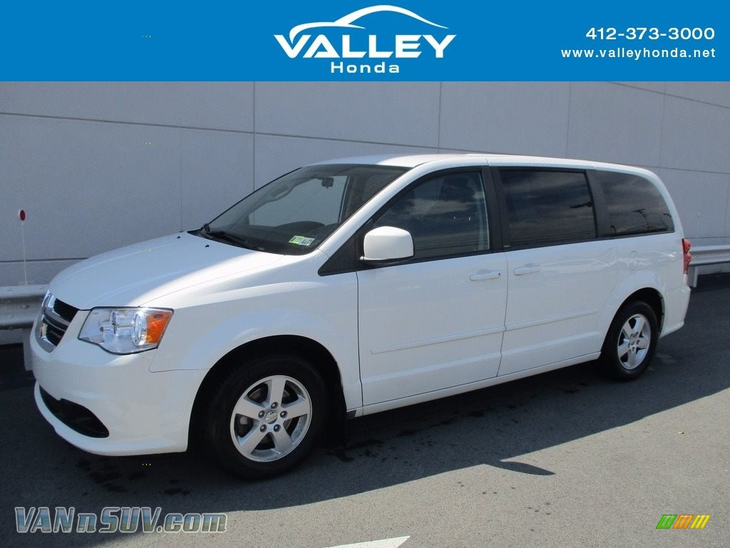 2012 Grand Caravan SE - Stone White / Black/Light Graystone photo #1