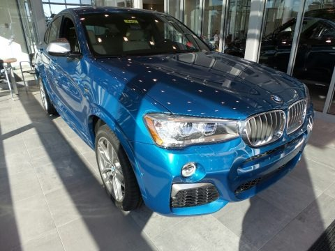 Long Beach Blue Metallic 2018 BMW X4 M40i