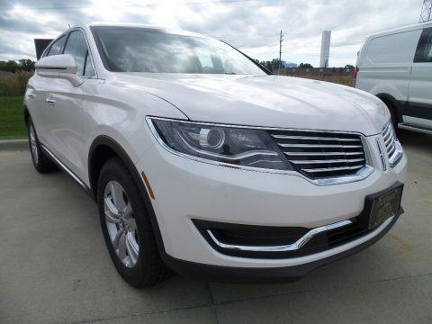 White Platinum 2017 Lincoln MKX Premier
