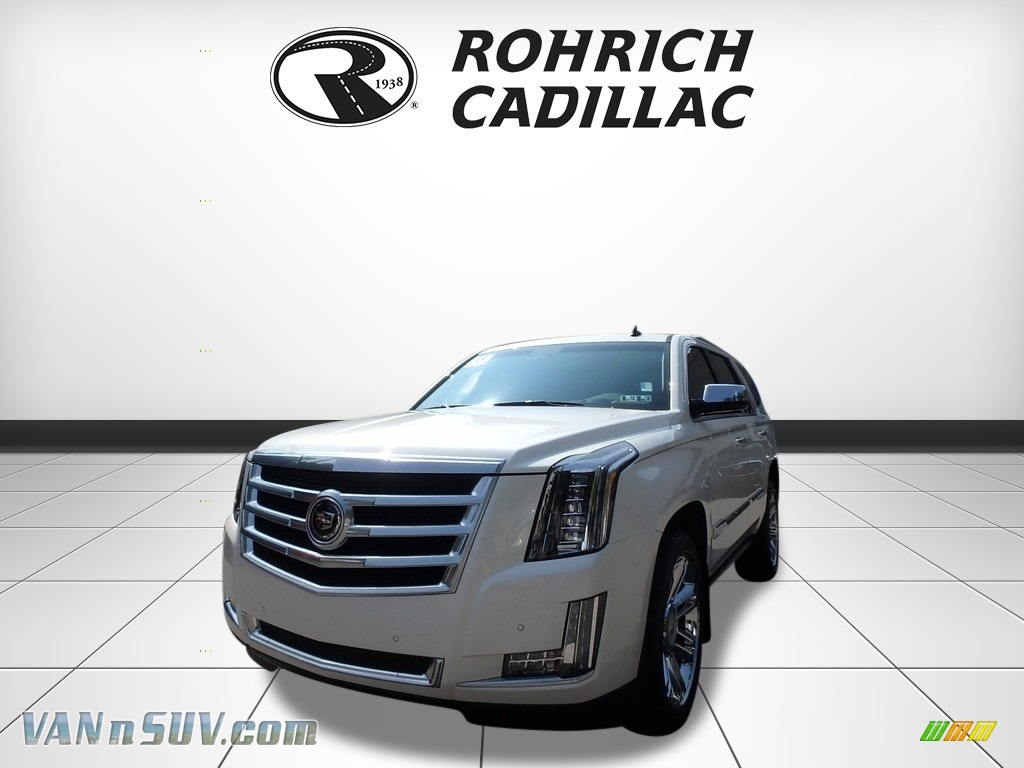 2015 Escalade Premium 4WD - White Diamond Tricoat / Shale/Cocoa photo #1