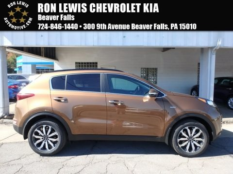 Burnished Copper 2018 Kia Sportage EX AWD