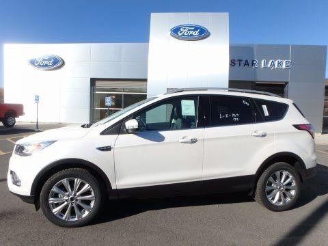 White Platinum 2018 Ford Escape Titanium 4WD