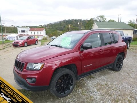 Deep Cherry Red Crystal Pearl 2012 Jeep Compass Latitude 4x4
