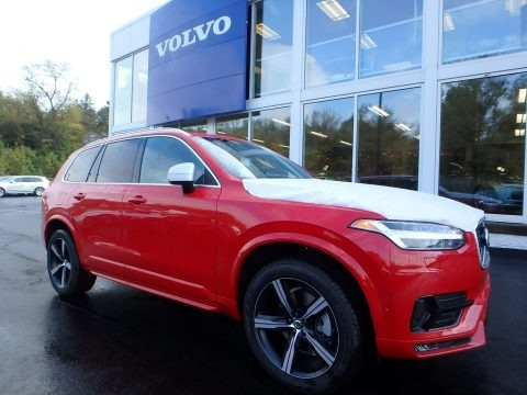 Passion Red 2018 Volvo XC90 T6 AWD R-Design