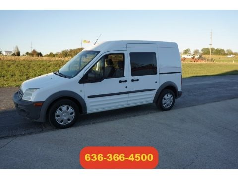 Frozen White 2010 Ford Transit Connect XL Passenger Wagon