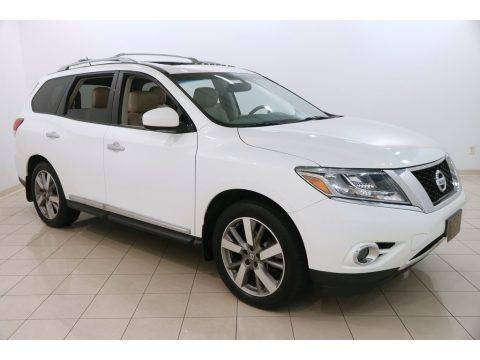Moonlight White 2013 Nissan Pathfinder Platinum 4x4