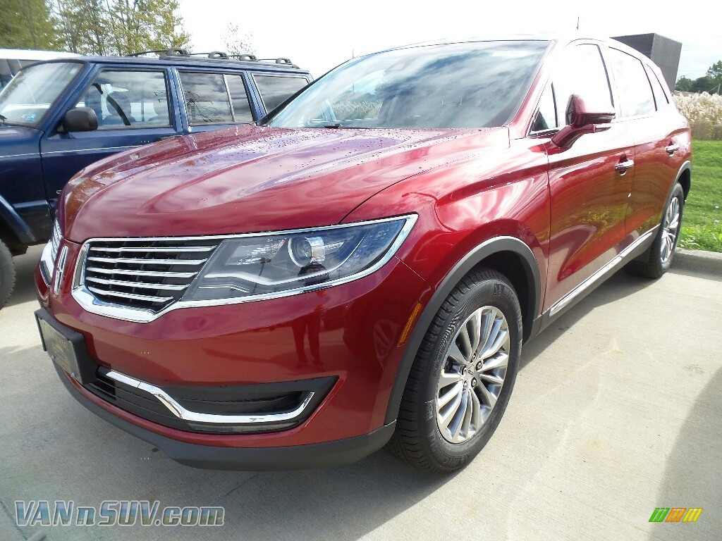 Ruby Red Metallic / Cappuccino Lincoln MKX Select