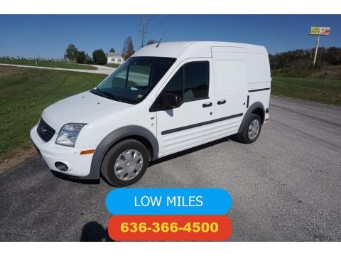 Frozen White 2013 Ford Transit Connect XLT Van