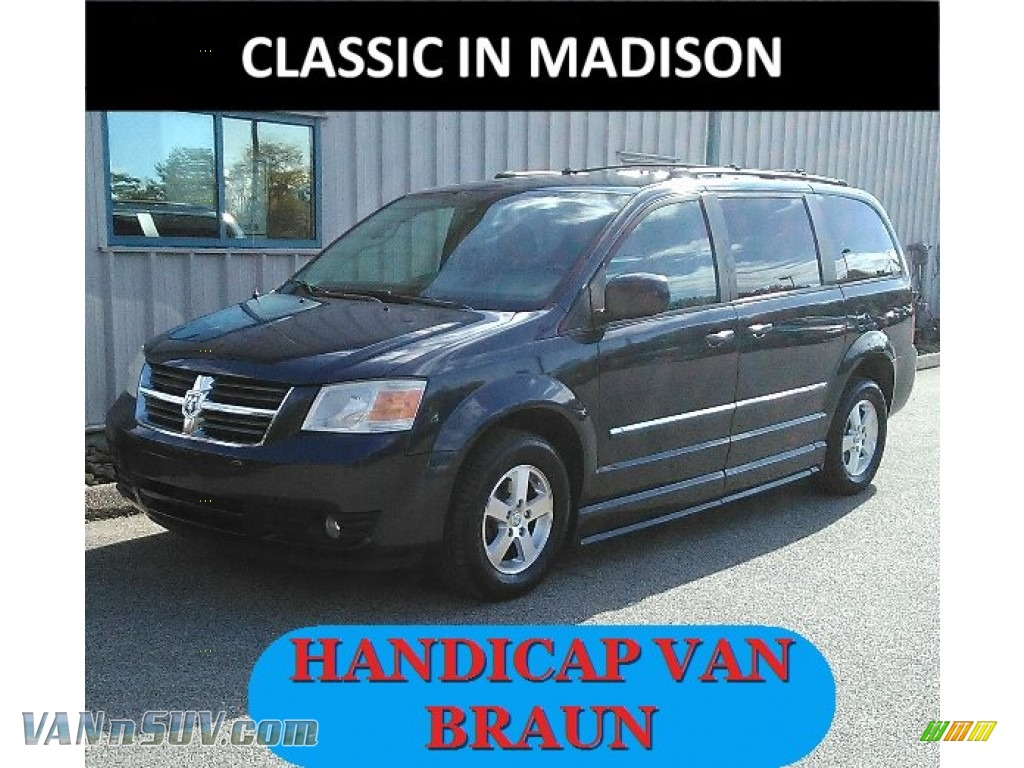 2008 Grand Caravan SXT - Modern Blue Pearl / Dark Slate/Light Shale photo #1
