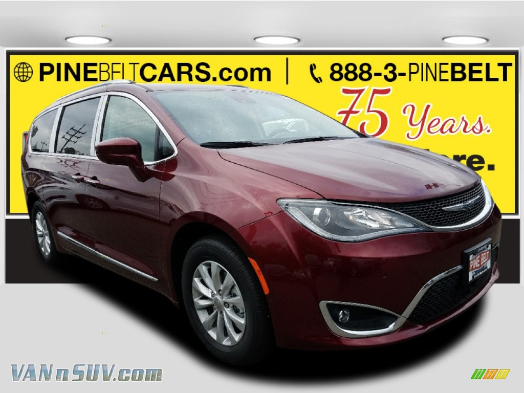 2018 Pacifica Touring L - Velvet Red Pearl / Cognac/Alloy/Toffee photo #1