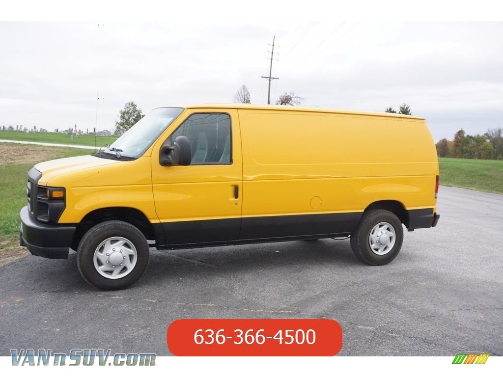 2008 E Series Van E150 Commercial - Fleet Yellow / Medium Flint photo #1