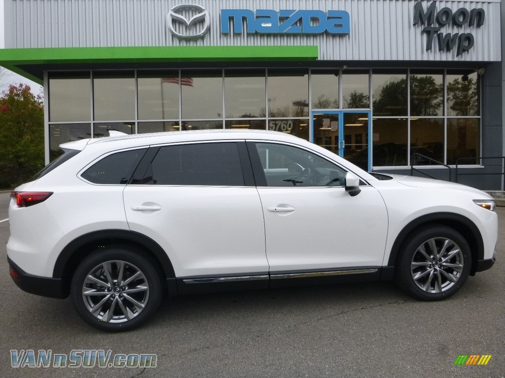 2018 CX-9 Grand Touring AWD - Snowflake White Pearl Mica / Black photo #1