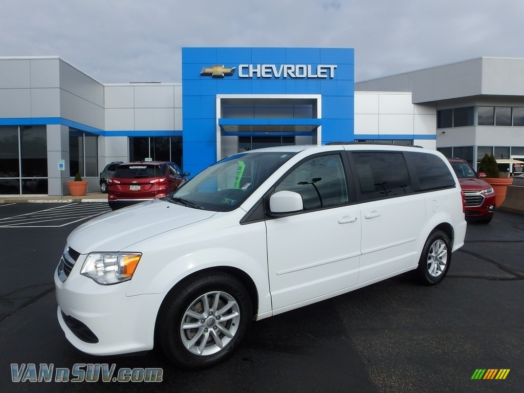 2014 Grand Caravan SXT - Bright White / Black/Light Graystone photo #1