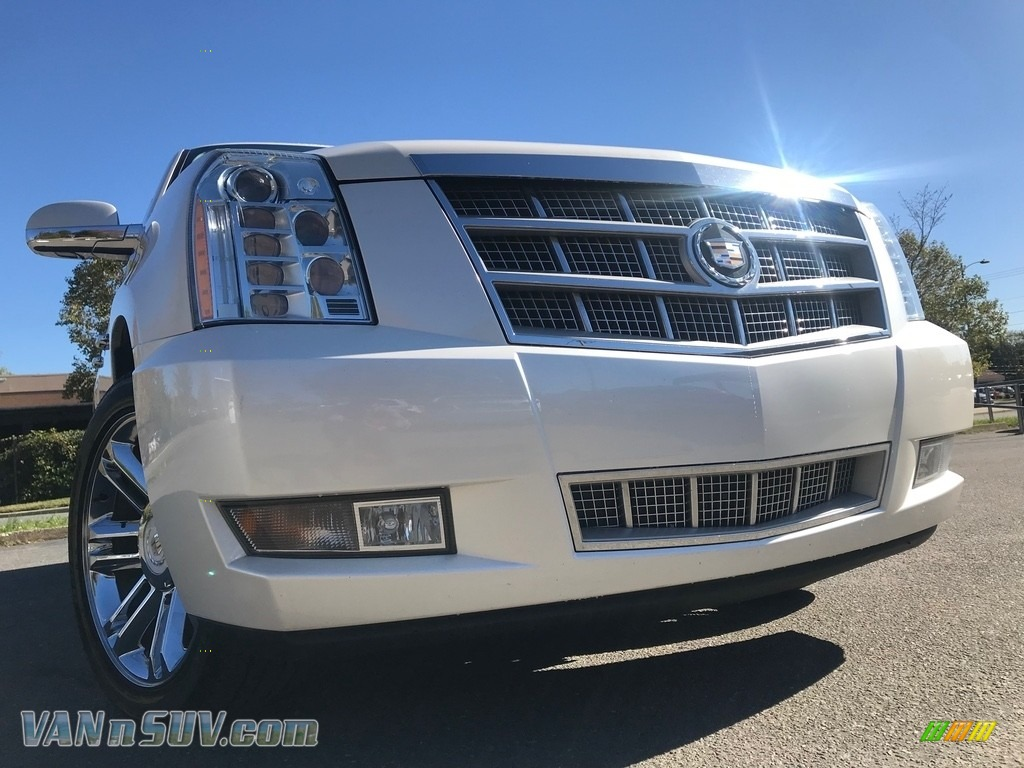 2012 Escalade Platinum AWD - White Diamond Tricoat / Cocoa/Light Linen photo #1