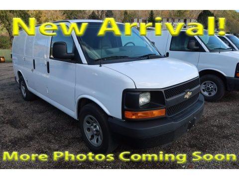 Summit White 2013 Chevrolet Express 1500 Cargo Van