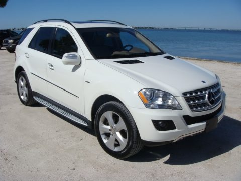 Arctic White 2009 Mercedes-Benz ML 320 BlueTec 4Matic
