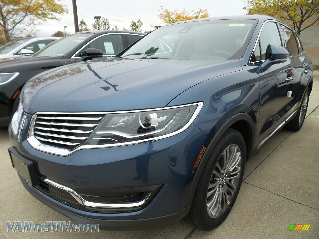 2018 MKX Reserve AWD - Blue Diamond Metallic / Cappuccino photo #1