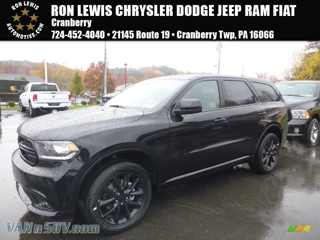 2018 Durango SXT AWD - DB Black Crystal / Black photo #1