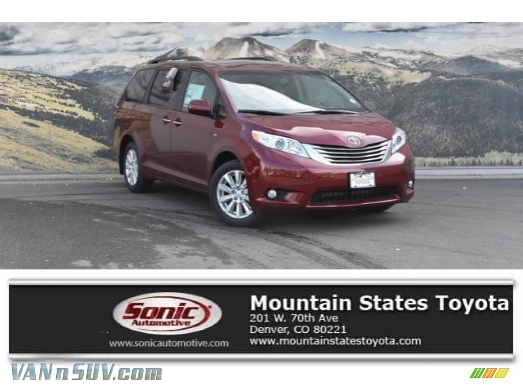 2017 Sienna XLE AWD - Salsa Red Pearl / Ash photo #1