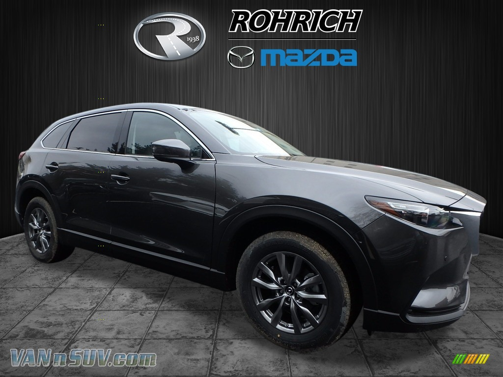 Machine Gray Metallic / Black Mazda CX-9 Touring AWD