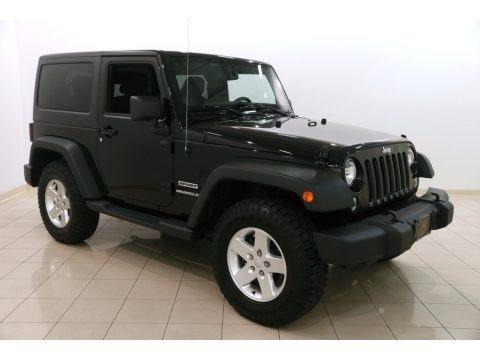 Black 2014 Jeep Wrangler Sport 4x4