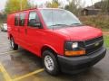 Chevrolet Express 2500 Cargo WT Red Hot photo #11