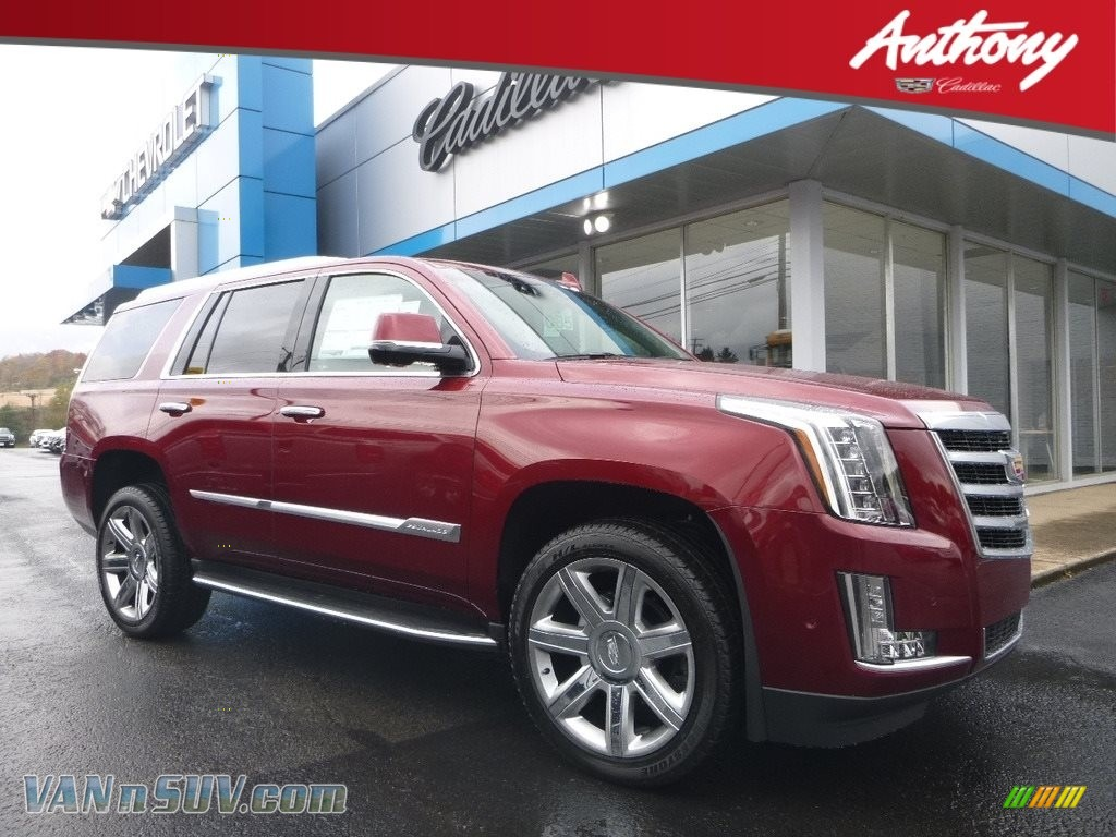 Red Passion Tintcoat / Jet Black Cadillac Escalade Premium Luxury 4WD