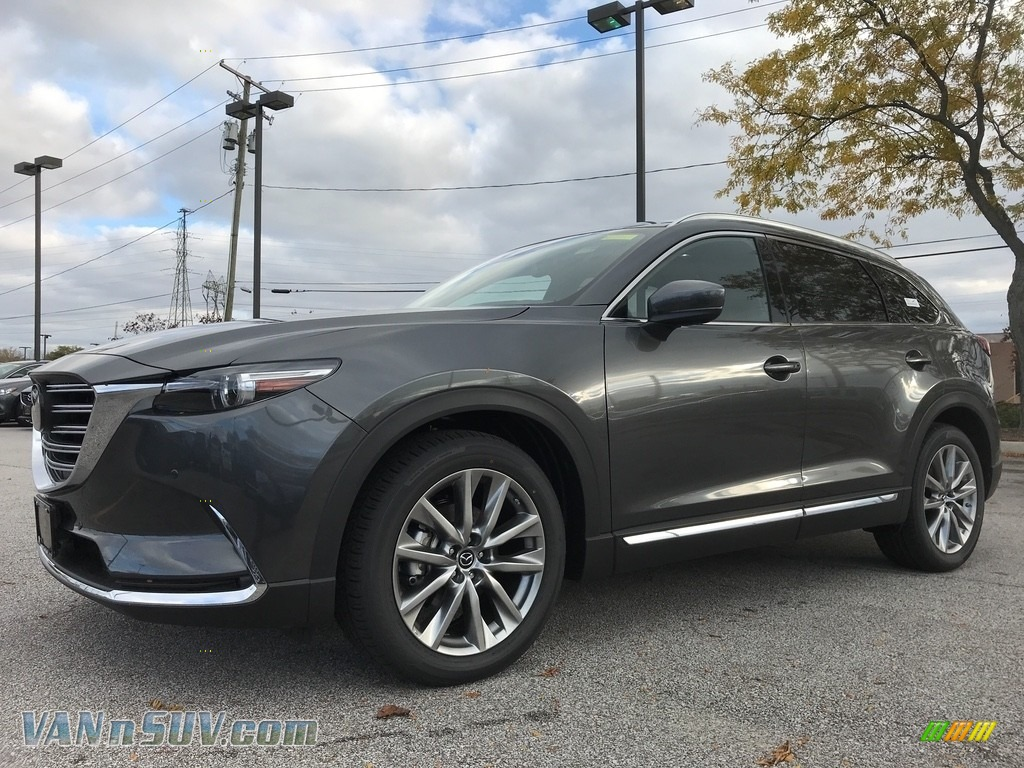 2018 CX-9 Signature AWD - Machine Gray Metallic / Auburn photo #1