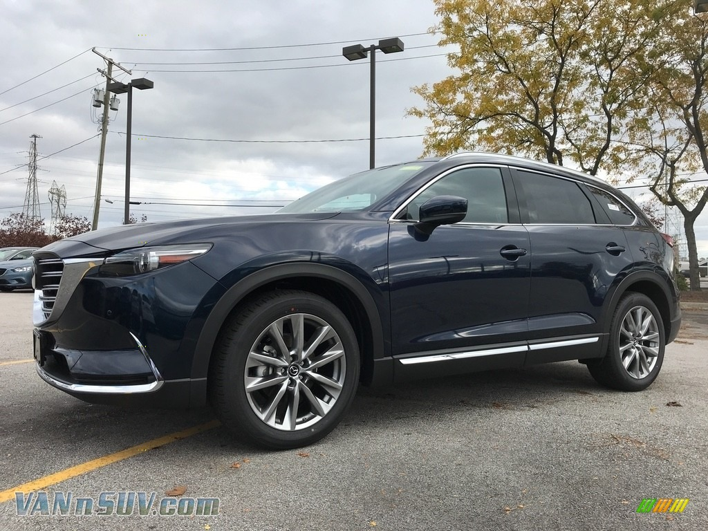 2018 CX-9 Grand Touring - Deep Crystal Blue Mica / Black photo #1