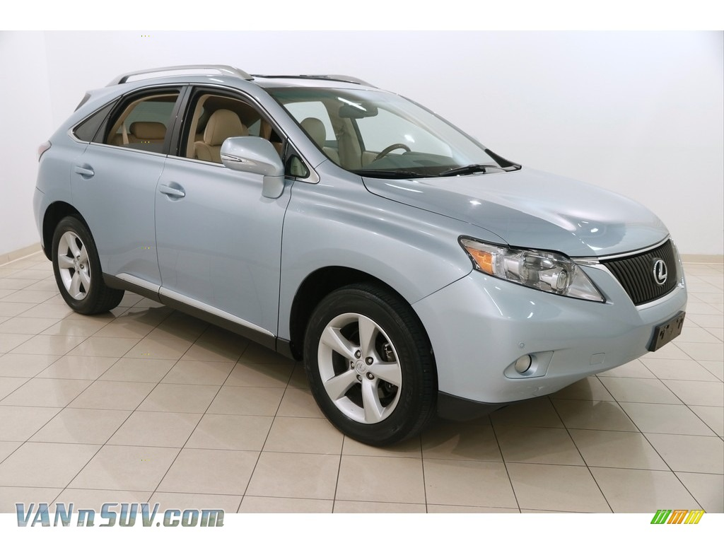 Cerulean Blue Metallic / Parchment/Brown Walnut Lexus RX 350 AWD