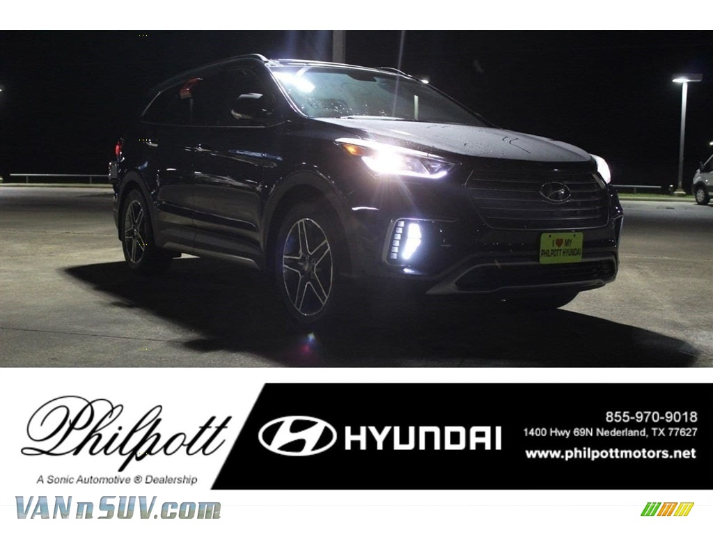 2018 Santa Fe Limited Ultimate - Night Sky Pearl / Gray photo #1