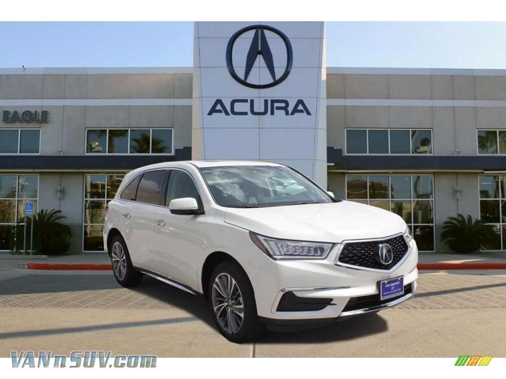 White Diamond Pearl / Parchment Acura MDX Technology