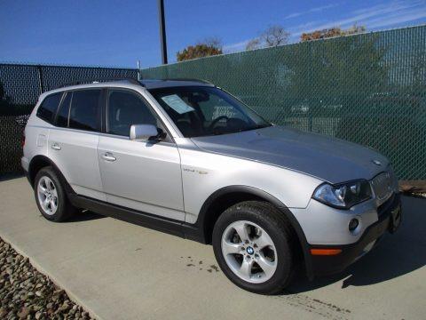 Titanium Silver Metallic 2008 BMW X3 3.0si