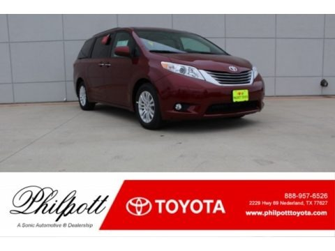Salsa Red Pearl 2017 Toyota Sienna XLE