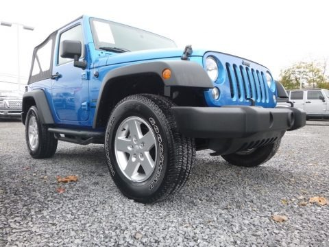 Hydro Blue Pearl 2016 Jeep Wrangler Sport
