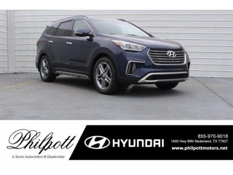 Storm Blue 2018 Hyundai Santa Fe Limited Ultimate