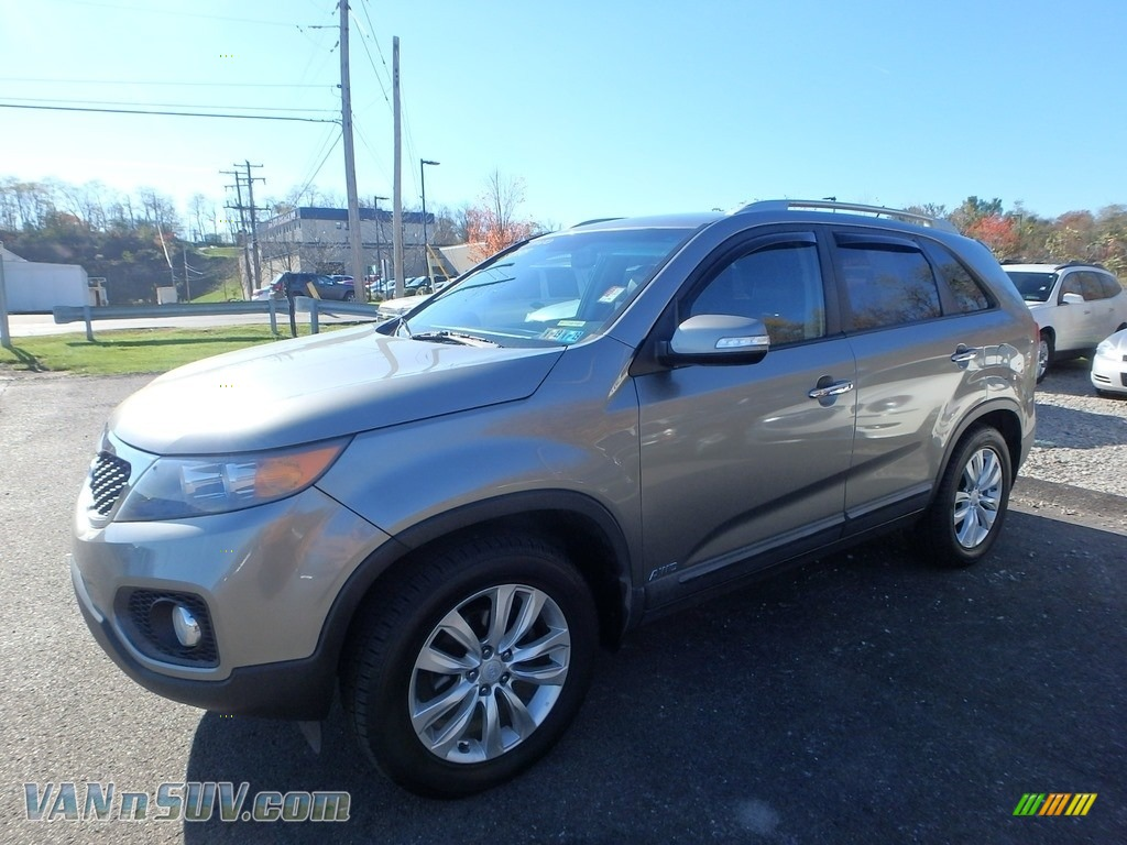 2011 Sorento EX AWD - Titanium Silver / Black photo #1