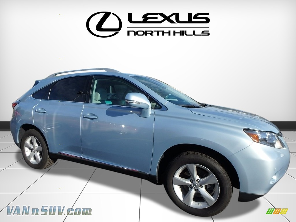 2012 RX 350 AWD - Cerulean Blue Metallic / Light Gray photo #1
