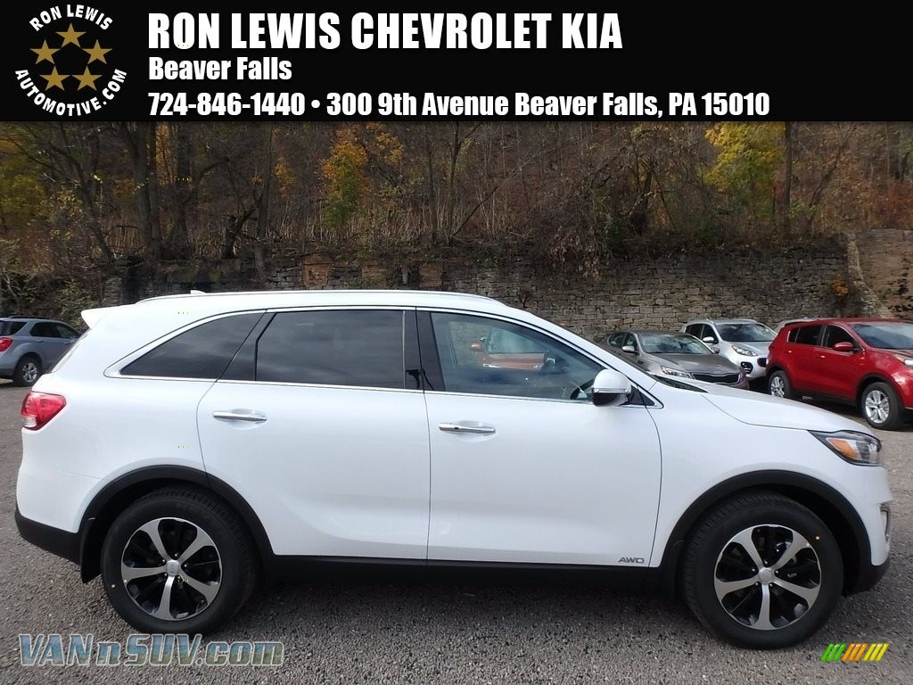 2018 Sorento EX 2.0T AWD - Snow White Pearl / Black photo #1
